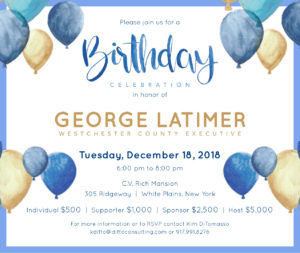 George Latimer Birthday Celebration @ C.V. Rich Mansion