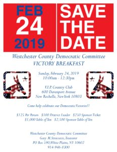 Westchester County Democratic Committee Victory Breakfast @ VIP COUNTRY CLUB