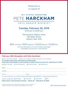 Pete Harckham Albany Event @ Renaissance Albany Hotel
