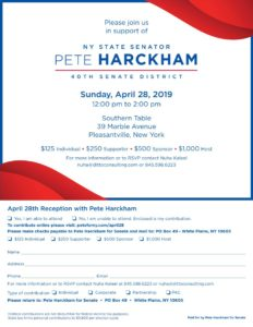 Pete Harckham Spring Fundraiser @ Southern Table