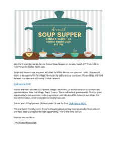 Croton Annual Soup Supper @ Croton Yacht Club