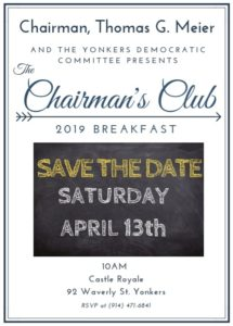 Yonkers Chairmans Club Annual Breakfast @ Castle Royale