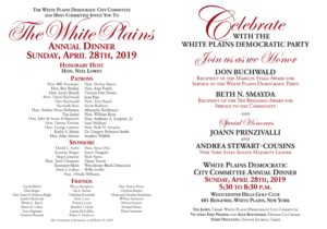 WHITE PLAINS DEMOCRATIC PARTY ANNUAL DINNER @ WESTCHESTER HILLS GOLD CLUB