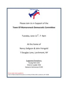 Town of Mamaroneck Dems Event