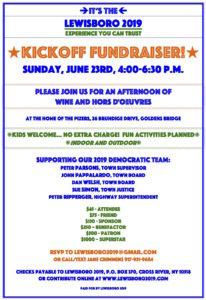 Lewisboro Dem Kickoff Fundraiser
