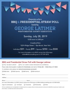George Latimer BBQ and Presidential Straw Poll @ Crawford Park