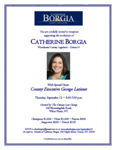 Catherine Borgia Re-Election Reception @ The Oxman Law Group