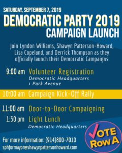 Mount Vernon Campaign Launch @ Dem Headquaretrs
