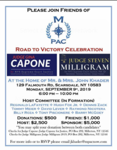 Gina Capone and Steven Milligram Fundraiser