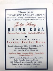 Nancy Quinn Koba Fundraiser @ Vintage Lounge and Resturant