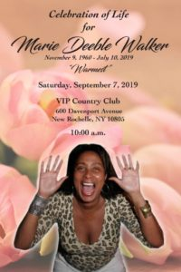 Celebration of Life Marie Deeble Walker @ VIP COUNTRY CLUB