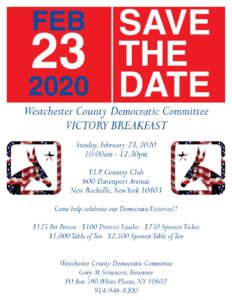 WESTCHESTER COUNTY DEMOCRATIC COMMITTEE VICTORY BREAKFAST