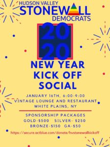 StoneWall Democrats 2020 New Year Kick Off Social @ Vintage Lounge and Resturant