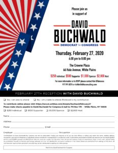 DAVID BUCHWALD FOR CONGRESS @ THE CROWN PLAZA