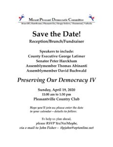 MOUNT PLEASANT DEMOCRATIC COMMITTEE BRUNCH @ PLEASANTVILLE COUNTRY CLUB