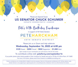 PETE HARCKHAM 60th Birthday Party Fundraiser @ online