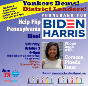 Biden+Harris Phonebank with Yonkers Dems