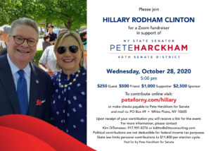Pete Harckham Fundraiser w/ Hillary Rodham Clinton