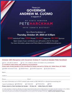 Pete Harckham Fundraiser w/ Gov. Cuomo