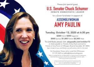 Amy Paulin Fundraiser w/ Chuck Schumer
