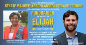 Elijah Reichlin-Melnick Fundraiser with N.Y. Senate Majority Leader Andrea Stewart-Cousins @ The Briarcliff Manor